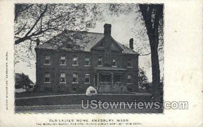 Old Ladies Home - Amesbury, Massachusetts MA Postcard