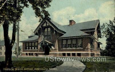 Horace Mann School - Amesbury, Massachusetts MA Postcard