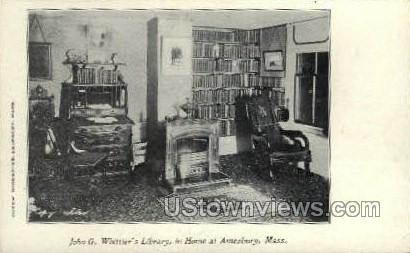 Library, Whittier's Home - Amesbury, Massachusetts MA Postcard