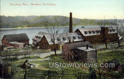 Merrimac Hat Factory - Amesbury, Massachusetts MA Postcard