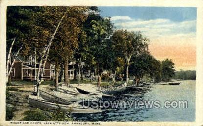 Shore & Camps, Lake Attitash - Amesbury, Massachusetts MA Postcard