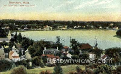 The Point Shore - Amesbury, Massachusetts MA Postcard