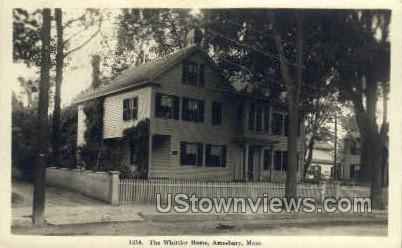 The Whittier Home - Amesbury, Massachusetts MA Postcard