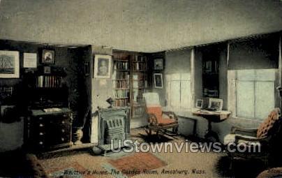 Whittiers Home - Amesbury, Massachusetts MA Postcard