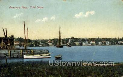 Point Shore - Amesbury, Massachusetts MA Postcard
