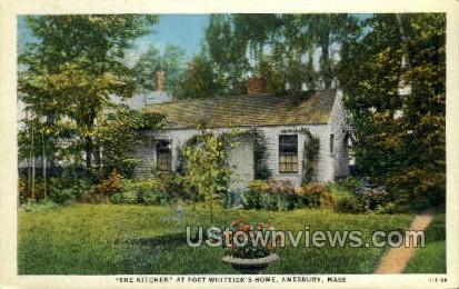 The Kitchen, Whittier's Home - Amesbury, Massachusetts MA Postcard