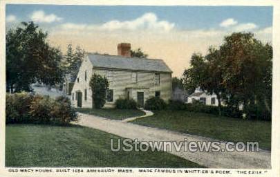 Old Macy House - Amesbury, Massachusetts MA Postcard