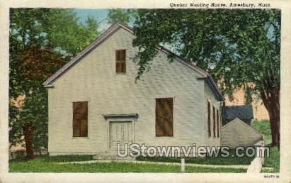 Quaker Meeting House - Amesbury, Massachusetts MA Postcard