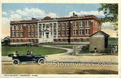 High School - Amesbury, Massachusetts MA Postcard
