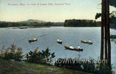 Canoe Club, Tuxbury's Pond - Amesbury, Massachusetts MA Postcard