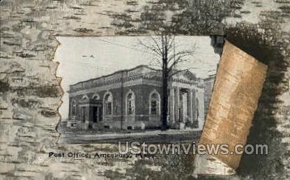 Post Office - Amesbury, Massachusetts MA Postcard