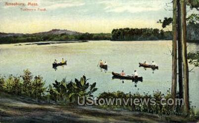 Tuxbury's Pond - Amesbury, Massachusetts MA Postcard