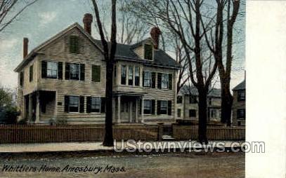 Whittier's Home - Amesbury, Massachusetts MA Postcard