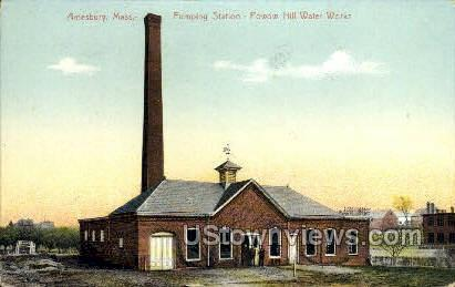 Powow Hill Water Works - Amesbury, Massachusetts MA Postcard