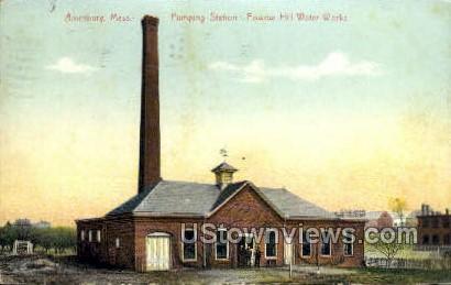 Pumping Station - Amesbury, Massachusetts MA Postcard