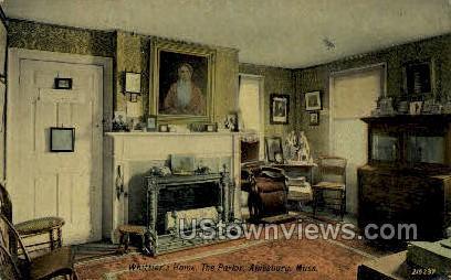 The Parlor, Whittier's Home - Amesbury, Massachusetts MA Postcard