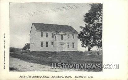 Rocky Hill Meeting House - Amesbury, Massachusetts MA Postcard