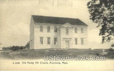 Old Rocky Hill Church - Amesbury, Massachusetts MA Postcard