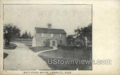 Macy-Colby House - Amesbury, Massachusetts MA Postcard