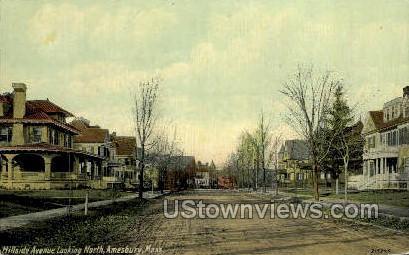 Hillside Ave. - Amesbury, Massachusetts MA Postcard