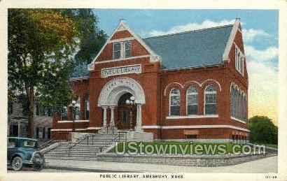 Public Library - Amesbury, Massachusetts MA Postcard