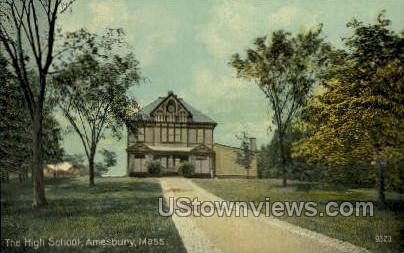 The High School - Amesbury, Massachusetts MA Postcard