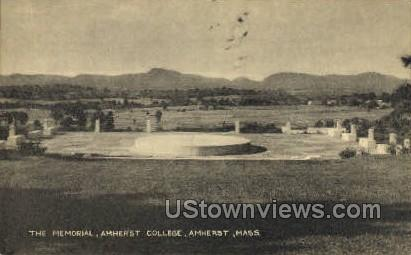 The Memorial, Amherst College - Massachusetts MA Postcard