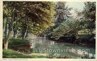 A Sylvan Stream - Amherst, Massachusetts MA Postcard