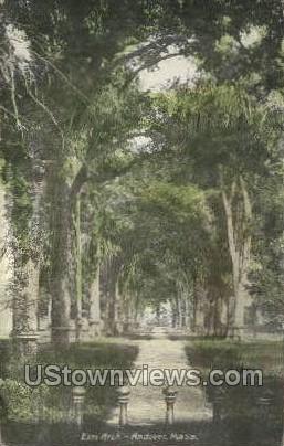 Elm Arch, Phillip's Academy - Andover, Massachusetts MA Postcard