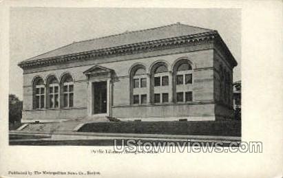 Public Library - Arlington, Massachusetts MA Postcard