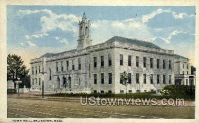 Town Hall - Arlington, Massachusetts MA Postcard