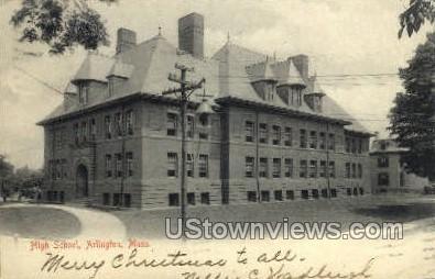 High School - Arlington, Massachusetts MA Postcard