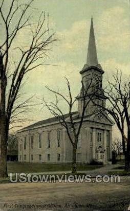 First Congregational Church - Arlington, Massachusetts MA Postcard