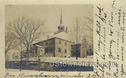 Real Photo - Old Church - Misc, Massachusetts MA Postcard