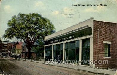 Post Office - Attleboro, Massachusetts MA Postcard
