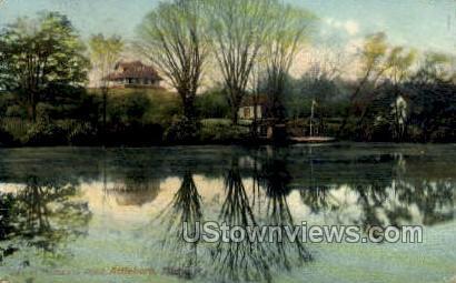 Mechanics Pond - Attleboro, Massachusetts MA Postcard