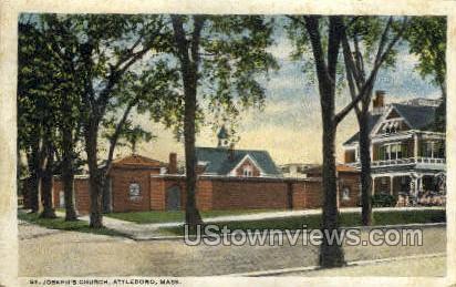 St. Joseph's Church - Attleboro, Massachusetts MA Postcard