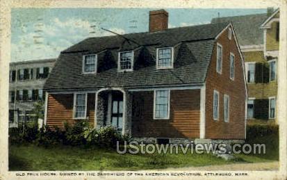 Old Peck House - Attleboro, Massachusetts MA Postcard
