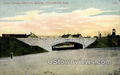Main St. - Attleboro, Massachusetts MA Postcard