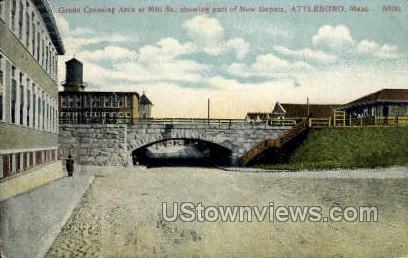 Mill Street - Attleboro, Massachusetts MA Postcard