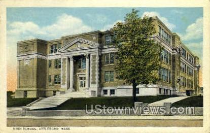High School - Attleboro, Massachusetts MA Postcard