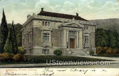 Public Library - Attleboro, Massachusetts MA Postcard