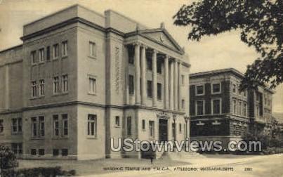Masonic Temple - Attleboro, Massachusetts MA Postcard