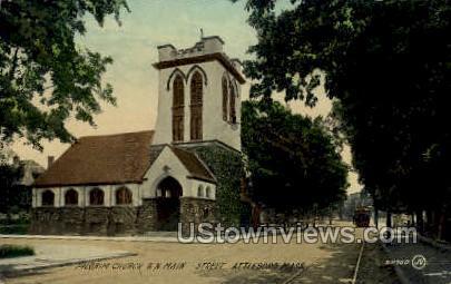 Pilgrim Church - Attleboro, Massachusetts MA Postcard