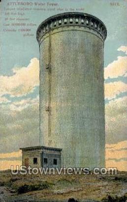 Water Tower - Attleboro, Massachusetts MA Postcard