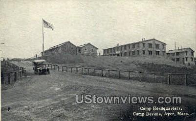 Camp Headquarters - Ayer, Massachusetts MA Postcard