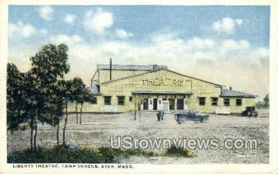 Liberty Theatre, Camp Devens - Ayer, Massachusetts MA Postcard