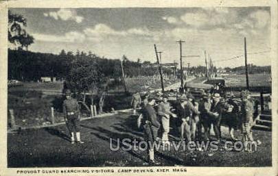 Provost Guard, Camp Devens - Ayer, Massachusetts MA Postcard