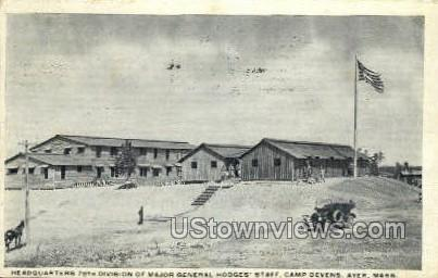 Major General Hodges' Staff - Ayer, Massachusetts MA Postcard