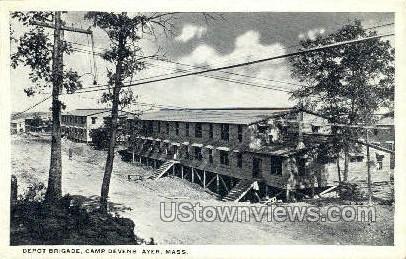 Depot Brigade, Camp Devens - Ayer, Massachusetts MA Postcard
